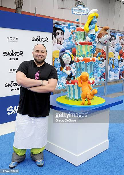Chef Duff Goldman arrives at the Los Angeles premiere of 'Smurfs 2' at Regency Village Theatre on July 28 2013 in Westwood California