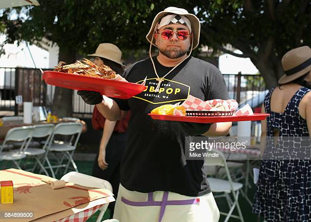 Chef Duff Goldman attends the 4th Annual Crab Cake LA fundraiser event presented by Cadillac and Agavero to benefit Chrysalis on July 31 2016 in Los...