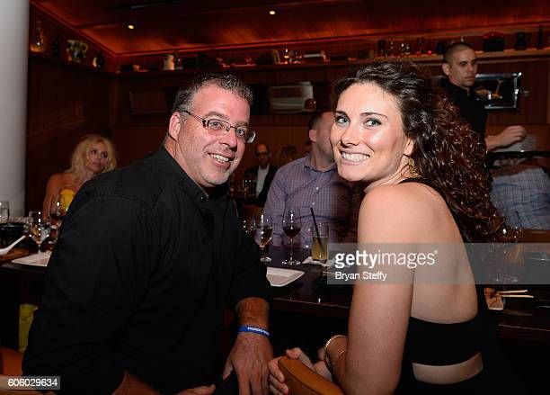 Chef Eddie 'Chef Eddie G' Gallagher and a guest attend the Las Vegas Food Wine Festival at Bazaar Meat at SLS Las Vegas Hotel on September 15 2016 in...
