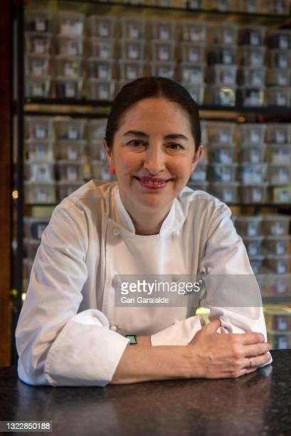 Chef Elena Arzak poses in a headshot session on June 10, 2021 in San Sebastian, Spain.