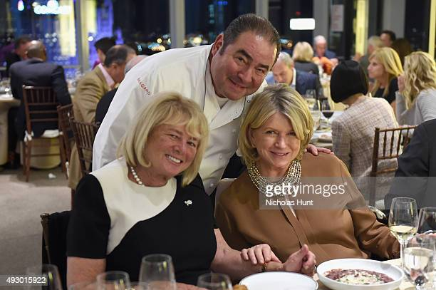 Chef Emeril Lagasse and Martha Stewart attend An Evening With Emeril Lagasse Celebrating Essential Emeril And Dishes That Have Shaped His Career part...