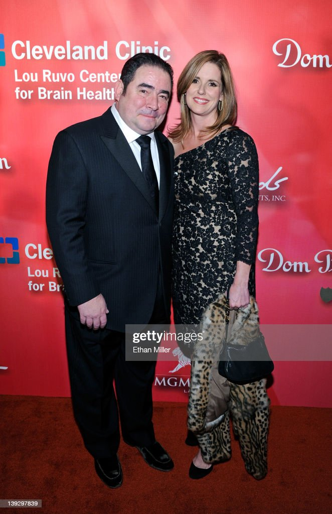 Chef Emeril Lagasse and wife Alden Lagasse arrive at the Keep Memory Alive foundation's 'Power of Love Gala' celebrating Muhammad Ali's 70th birthday at the MGM Grand Garden Arena February 18, 2012 in Las Vegas, Nevada. The event benefits the Cleveland Clinic Lou Ruvo Center for Brain Health and the Muhammad Ali Center.
