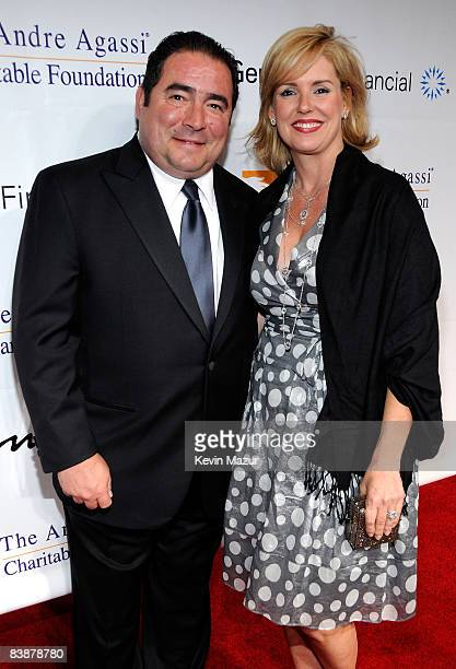 Chef Emeril Lagasse and wife Alden Lovelace arrive at the 13th Annual Andre Agassi Charitable Foundation's Grand Slam for Children benefit concert at...
