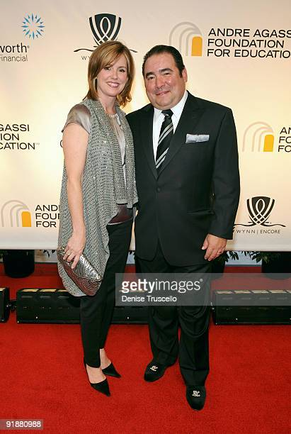 Chef Emeril Lagasse and wife Alden Lovelace arrive at the 14th annual Andre Agassi Foundation for Education's Grand Slam for Children benefit concert...
