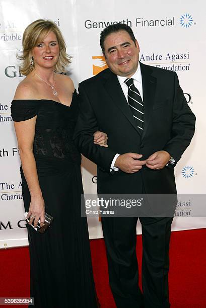 Chef Emeril Lagasse and wife Alden Lovelace arrive at the Andre Agassi Charitable Foundation's 11th Annual Grand Slam For Children concert fundraiser...