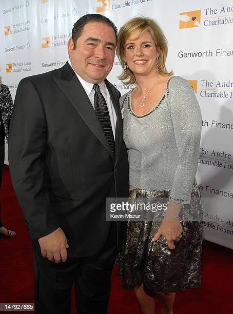 Chef Emeril Lagasse and wife Alden Lovelace arrive to the Andre Agassi 12th Annual Grand Slam for Children at the MGM Grand Garden Arena on October 6...