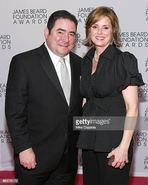 Chef Emeril Lagasse and wife Alden Lovelace attend the 2009 James Beard Foundation Awards at Avery Fisher Hall at Lincoln Center for the Performing...