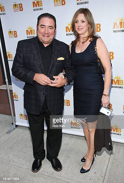 Chef Emeril Lagasse and wife Alden Lovelace attend The Mario Batali Foundation Inaugural Honors Dinner at Del Posto Ristorante on September 9 2012 in...