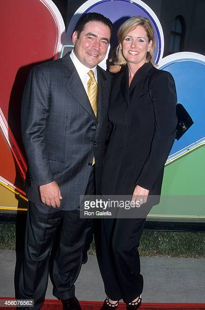 Chef Emeril Lagasse and wife Alden Lovelace attend the NBC Summer TCA Press Tour on July 20 2001 at the RitzCarlton Hotel in Pasadena California