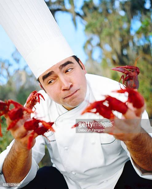 Chef Emeril Lagasse with Crayfish
