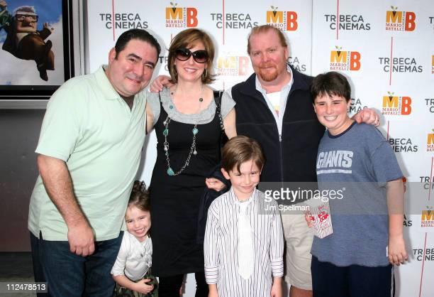 Chef Emeril Lagasse with daughter Meril Lovelace Lagasse wife Alden Lovelace son Emeril John Lagasse Chef Mario Batali and son Benno Batali attend a...