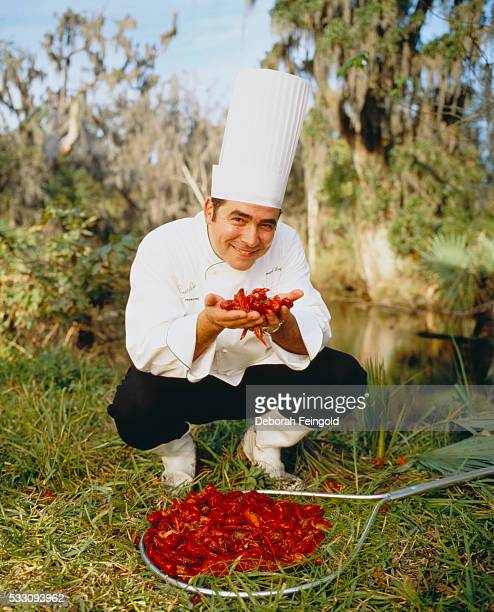 Chef Emeril Lagasse with Fresh Crayfish