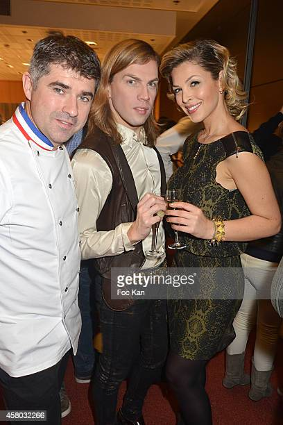 Chef Emmanuel Ryon Christophe Guillarme and Eleonore Boccara attend the 'Salon Du Chocolat Chocolate Fair 20th Anniversary' At the Parc des...