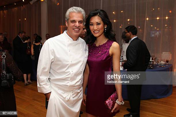 Chef Eric Ripert and television personality Kelly Choi attend City Harvest's 15th Annual Bid Against Hunger restaurant tasting event at Metropolitan...