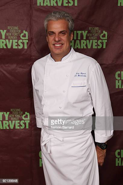 Chef Eric Ripert attends City Harvest's 15th Annual Bid Against Hunger restaurant tasting event at Metropolitan Pavilion on October 20, 2009 in New...