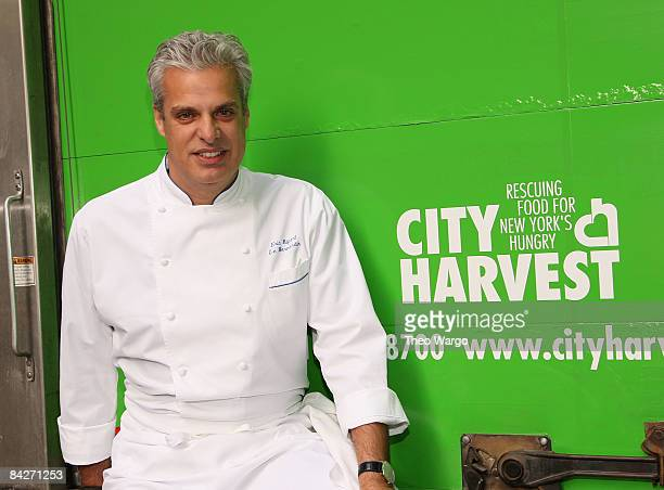 Chef Eric Ripert attends press conference to announce City Harvest and Le Bernardin Partnership at Le Bernardin in New York City on January 13, 2009.