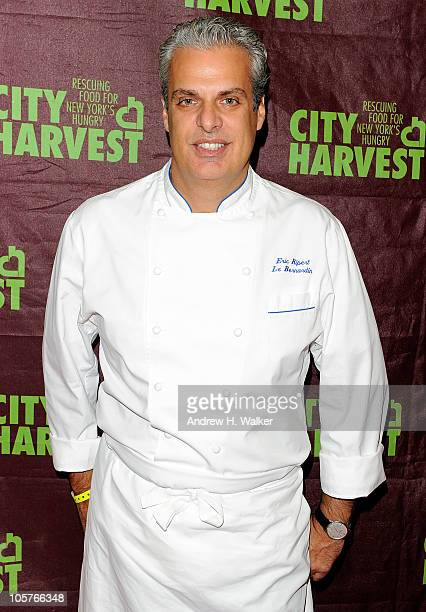 Chef Eric Ripert attends the 16th Annual Bid Against Hunger Tasting Event hosted by City Harvest at Metropolitan Pavilion on October 19 2010 in New...