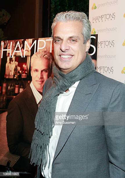 Chef Eric Ripert attends the Hamptons Magazine celebration of cover star and renowned chef Eric Ripert at Greenhouse on November 18 2010 in New York...