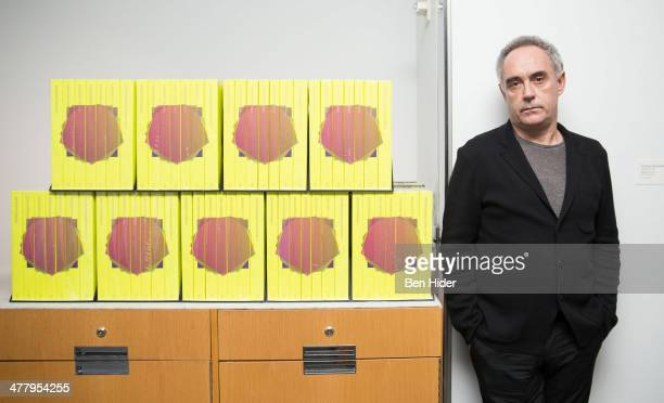 Chef Ferran Adria Acosta promotes his 'elBulli 20052011' Book at the Museum of Modern Art on March 11 2014 in New York City
