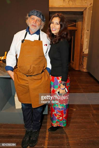Chef Francis Mallmann and Jasmine Hemsley attend Krug Festival 'Into The Wild' at The Grange Hampshire on July 29 2017 in Northington United Kingdom