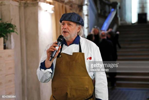 Chef Francis Mallmann speaks at Krug Festival 'Into The Wild' at The Grange Hampshire on July 29 2017 in Northington United Kingdom