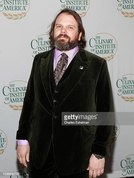 Chef Frank Castronovo coowner of Frankies Spuntino attends The Culinary Institute of America's 2011 Augie Awards at The New York Marriott Marquis on...