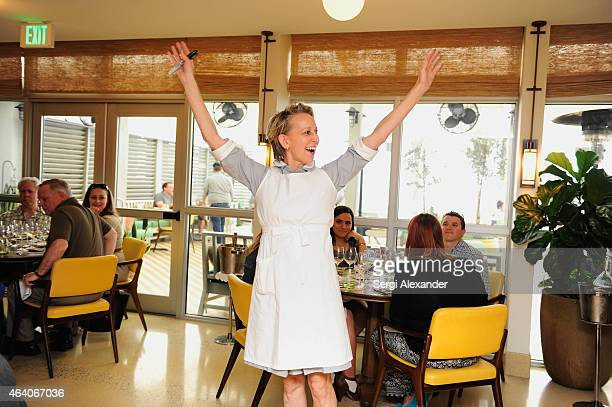 Chef Gabrielle Hamilton attends A League Of Their Own A Lunch Hosted by Michelle Bernstein Gabrielle Hamilton and Elizabeth Falkner during 2015 Food...