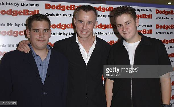 Chef Gary Rhodes and family arrive at the UK Premiere of Dodgeball A True Underdog Story at the Odeon Kensington on August 17 2004 in London