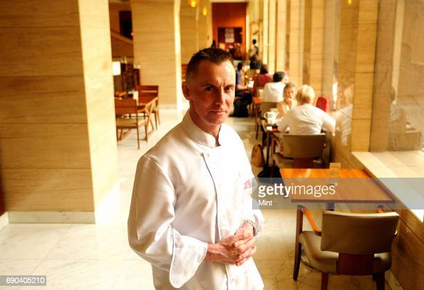 Chef Gary Rhodes photographed at the Hyatt Regency in Delhi