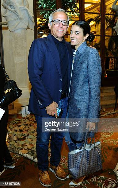 Chef Geoffrey Zakarian and Margaret Anne Williams attend Rachel Antonoff Presentation Spring 2016 New York Fashion Week at The Palm Court at The...