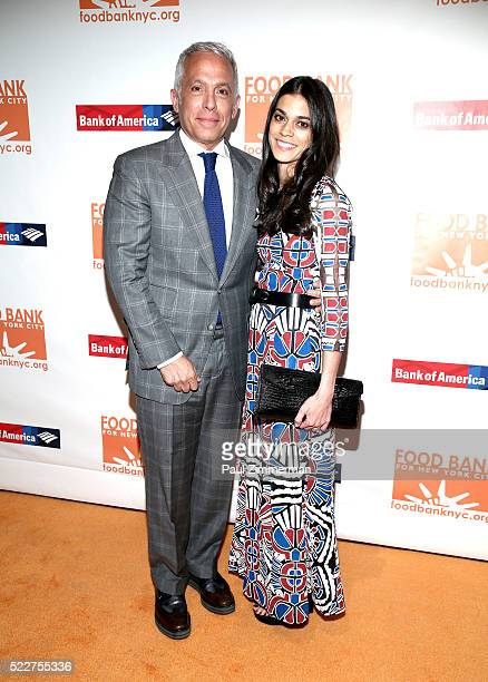 Chef Geoffrey Zakarian and Margaret Anne Williams attend the 2016 Food Bank For New York CanDo Awards Dinner at Cipriani Wall Street on April 20 2016...