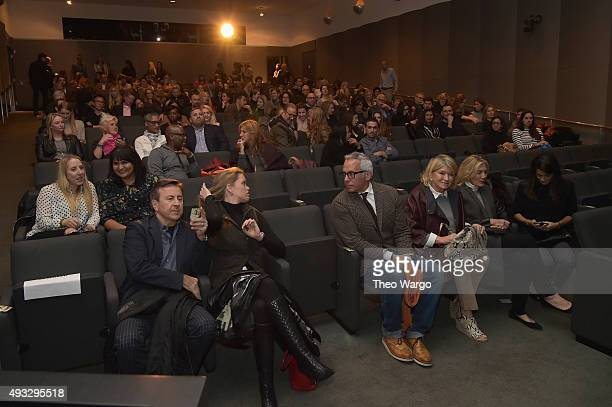 Chef Geoffrey Zakarian and Martha Stewart attend the Private Screening Of BURNT QA Panel And Reception With Bradley Cooper And Sienna Miller during...