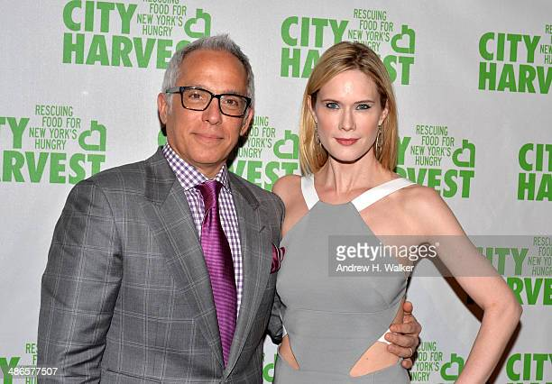 Chef Geoffrey Zakarian and Stephanie March attends City Harvest An Event Of Practical Magic on April 24 2014 in New York City