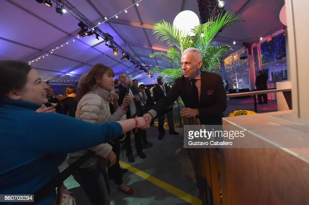 Chef Geoffrey Zakarian greets guests at The Food Network & Cooking Channel New York City Wine & Food Festival Presented By Coca-Cola - Smorgasburg...
