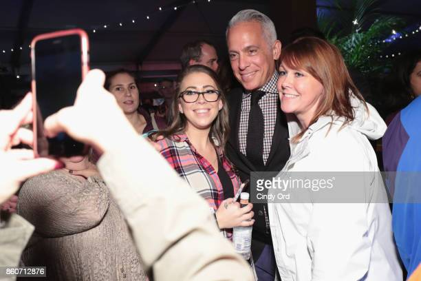 Chef Geoffrey Zakarian poses with fans at The Food Network & Cooking Channel New York City Wine & Food Festival Presented By Coca-Cola - Smorgasburg...