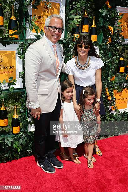 Chef Geoffrey Zakarian wife Margaret Anne Williams and children attend the sixth annual Veuve Clicquot Polo Classic on June 1 2013 in Jersey City