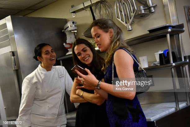 Chef Ghaya Oliveira and Katherine Gage attend the Food Network Cooking Channel New York City Wine Food Festival Presented By Capital One Cafe Boulud...