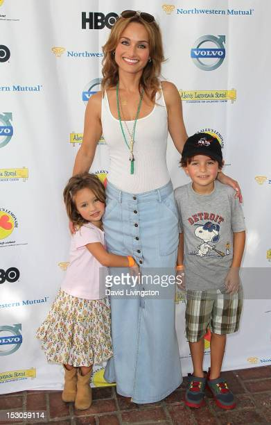 Chef Giada De Laurentiis daughter Jade Thompson and nephew Julian Vaguelsy attend the 3rd Annual LA Loves Alex's Lemonade Culinary Event at Culver...