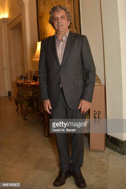 Chef Giorgio Locatelli attends the launch his new book Made At Home The Food I Cook For The People I Love at the Italian Embassy on September 12 2017...