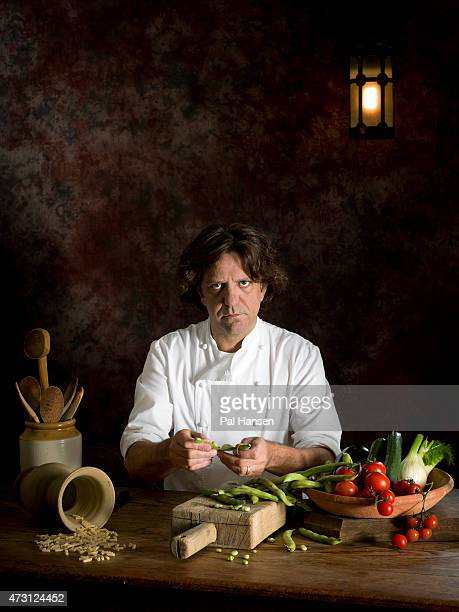 Chef Giorgio Locatelli is photographed for the Observer on April 24 2014 in London England