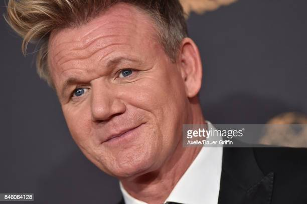 Chef Gordon Ramsay arrives at the 2017 Creative Arts Emmy Awards at Microsoft Theater on September 9 2017 in Los Angeles California
