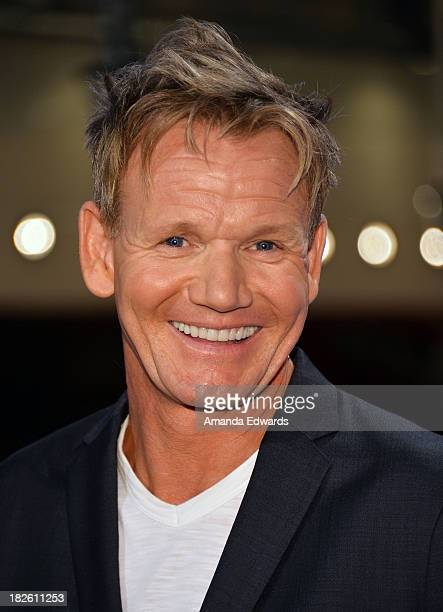 Chef Gordon Ramsay attends FOX's 'Hell's Kitchen' 200th Episode Celebration at Hell's Kitchen Dining Room on October 1 2013 in Culver City California