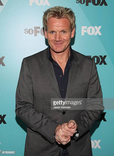 Chef Gordon Ramsay attends the 2009 FOX UpFront after party at Wollman Rink Central Park on May 18 2009 in New York City