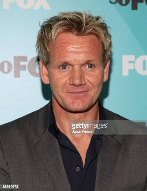 Chef Gordon Ramsay attends the 2009 FOX UpFront after party at the Wollman Rink in Central Park on May 18 2009 in New York City