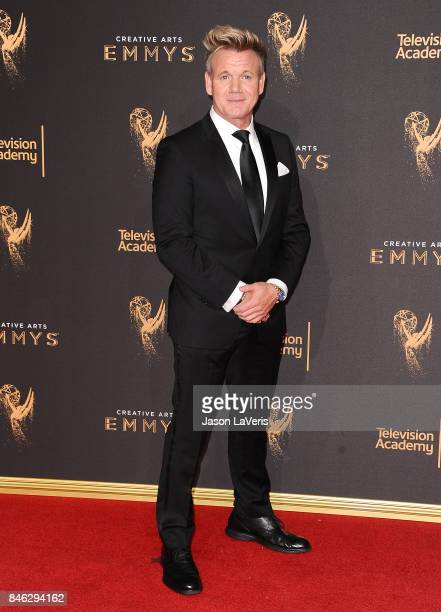 Chef Gordon Ramsay attends the 2017 Creative Arts Emmy Awards at Microsoft Theater on September 9 2017 in Los Angeles California