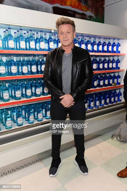 Chef Gordon Ramsay attends the AMEX presents The Cobalt Social Pop Up Restaurant at Kensington Market on September 26 2017 in Toronto Canada