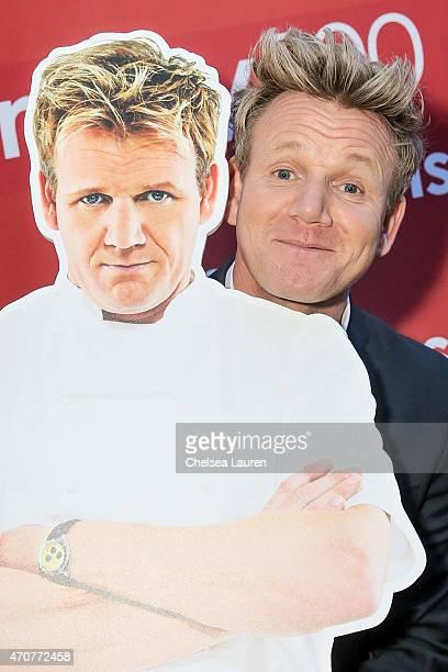 Chef Gordon Ramsay attends the #Ramsay500 celebration of his 500th episode at Walt Disney Studio Lot on April 22 2015 in Burbank California