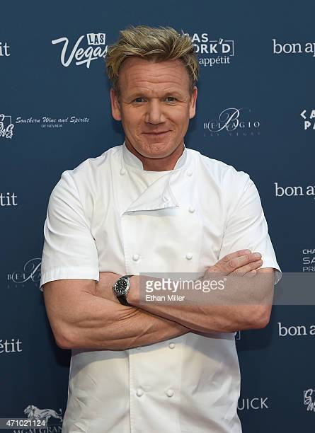 Chef Gordon Ramsay attends Vegas Uncork'd by Bon Appetit's Grand Tasting event at Caesars Palace on April 24 2015 in Las Vegas Nevada