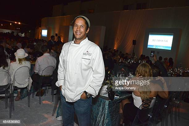 Chef Govind Armstrong attends the Project Angel Food's 25th Anniversary Angel Awards 2014, honoring Aileen Getty with the Inaugural Elizabeth Taylor...