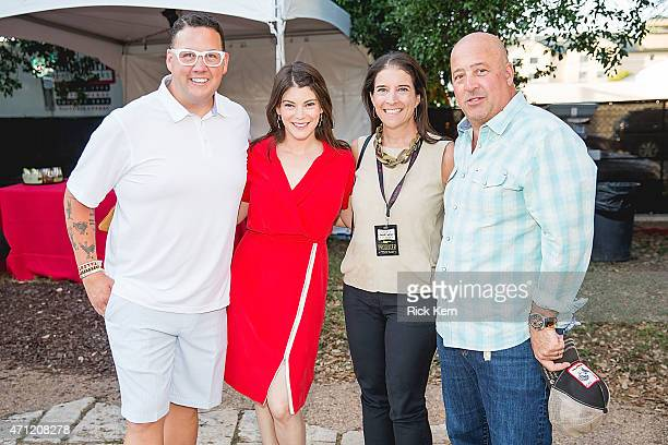Chef Graham Elliot television personality Gail Simmons FOOD WINE Magazine's publisher Christina Grdovic and chef/television personality Andrew...